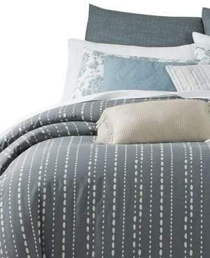 Martha Stewart 10-Piece Reversible Rain Drop Striped Comforter Set