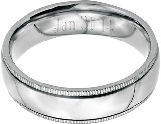 Steel By Design Stainless Steel 6mm Polished Milgrain Engravable Ring