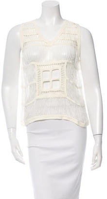 Boy. by Band of Outsiders Crocheted V-neck Top w/ Tags $75 thestylecure.com