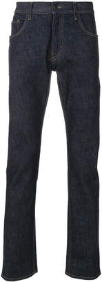 Prada slim raw wash jeans