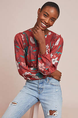 Dolan Left Coast Daylily Silk Blouse