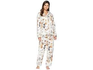 The Cat's Pajamas Saucy Cat Flannel Pajama Set
