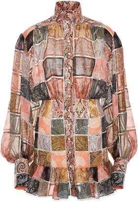 Zimmermann Ninety-Six Patch Silk Mini Dress
