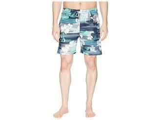 U.S. Polo Assn. 7 Streak Print Swim Shorts Men's Swimwear