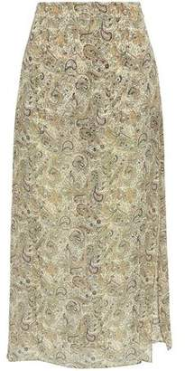 Haute Hippie Layered Printed Crinkled Silk-Chiffon And Crepe Shorts