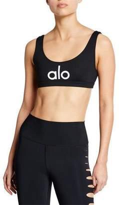 Alo Yoga Ambient Logo Sports Bra