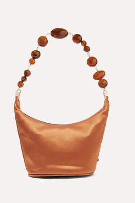 Cult Gaia Gia Silk-satin Shoulder Bag - Brown