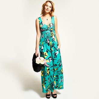 107e6cd7279 HotSquash - Floral Graffiti Sleeveless Empire Line Maxi Dress