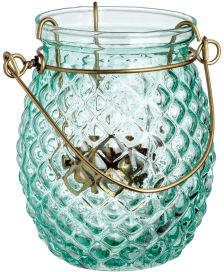 H&M Glass Tea Light Holder - Turquoise
