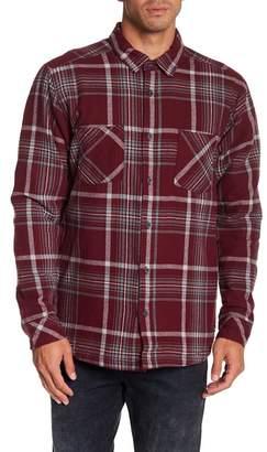 Quiksilver Front Button Plaid Regular Fit Shirt