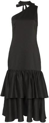 REJINA PYO Tiered Drop Hem Cotton Midi Dress