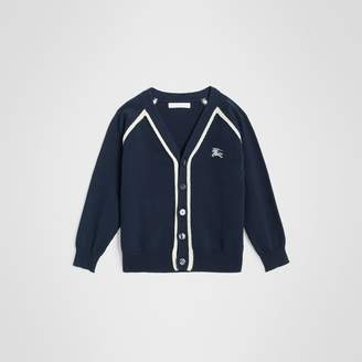 Burberry Childrens Two-tone Cotton Knit Cardigan