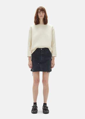 RE/DONE x Levi's High Waisted Mini Skirt Black