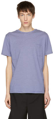 A.P.C. Blue and White Striped Laurent T-Shirt