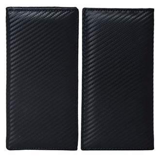 Leather Checkbook Cover Holder for Women - Standard Register Duplicate Checks RFID ()