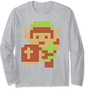 Nintendo Zelda Classic NES 8-Bit Pixel Link Long Sleeve Tee