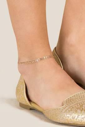 francesca's Sabine Gold Layered Chain Anklet - Gold