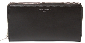 Balenciaga  Essential Leather Zip Around Wallet