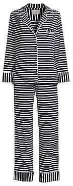 MAISON DU SOIR Women's Monaco Long-Sleeve Pajamas