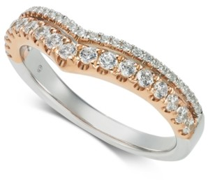 Macy's Diamond Ring (1/2 ct. t.w.) in 14k White Gold & 14k Rose Gold