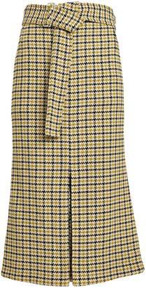 Victoria Beckham Checked Box Pleat Skirt