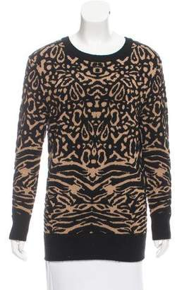Torn By Ronny Kobo Patterned Crew Neck Sweater