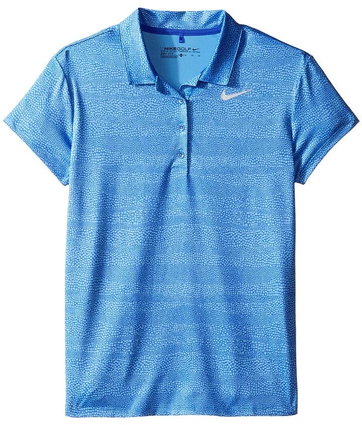 Nike Kids - Printed Polo Girl's Short Sleeve Pullover