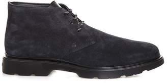 Hogan Blue Desert H304 Shoes In Suede