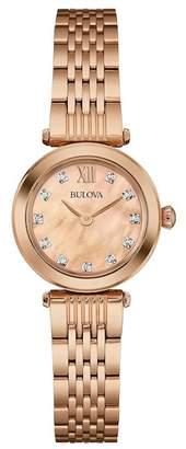 Bulova Women's Diamond Collection Bracelet Watch, 24mm - 0.04 ctw