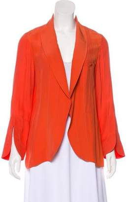 Chloé Silk Open Front Blazer