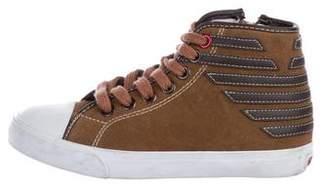 Armani Junior Boys' Suede High-Top Sneakers