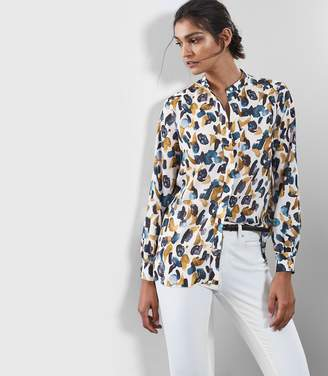 Reiss Giselle Abstract Print Blouse