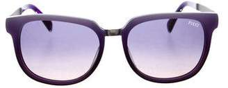 Emilio Pucci Gradient Square Sunglasses w/ Tags