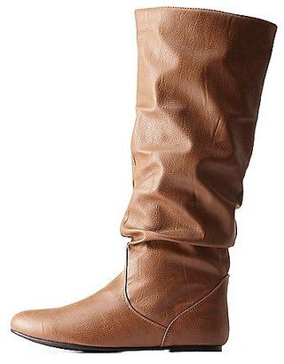 Slouchy Flat Knee-High Boots $3.49 thestylecure.com