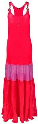 Diesel colour-block maxi dress