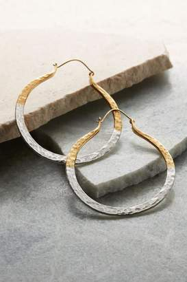 Soft Surroundings Hammered Hoop Earrings