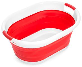 Laundry by Shelli Segal Best Choice Products Collapsible Large Plastic Basket Storage Container - Red