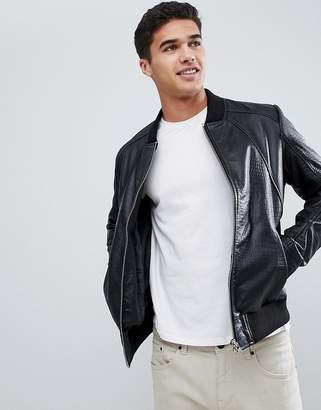 Barney's Originals Textured Real Leather Jacket