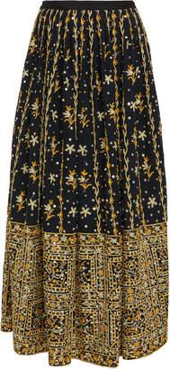 4a6c6d7e5 Ulla Johnson Aisha Embroidered Linen-Cotton Blend Maxi Skirt