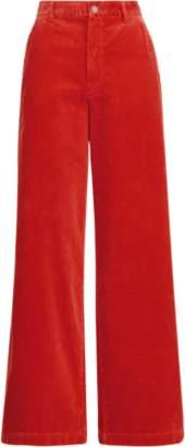Ralph Lauren Corduroy Wide-Leg Trouser
