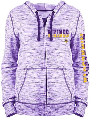 5th & Ocean Women's Minnesota Vikings Space Dye Full-Zip Hoodie