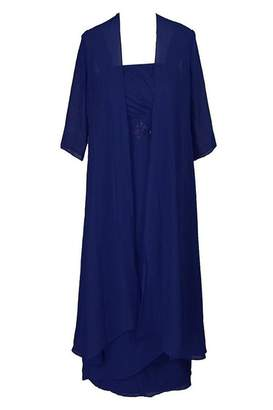L・I・U Liu Qiongfeng DressU Women's V-Neck Empire Waist Maxi Dress Spaghetti Strap Faux Wrap Long Dress