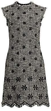 Giambattista Valli Women's Sleeveless Floral Embroidered Tweed Dress