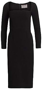 Lela Rose Women's Wool Crepe Fitted Sheath Dress