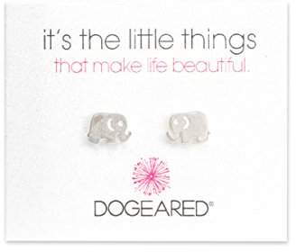 Dogeared Sterling Silver Elephant Stud Earrings