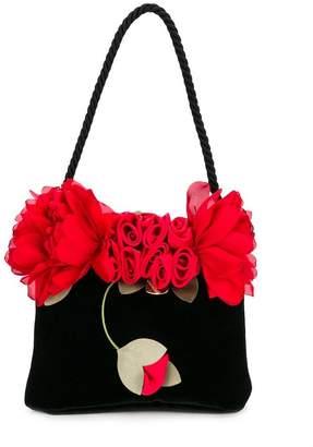 MonnaLisa flower embellished bag
