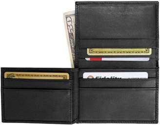 Royce Leather Men's Flip Credit Card Wallet in Genuine Leather