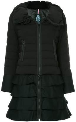 GUILD PRIME ruffle trim puffer jacket