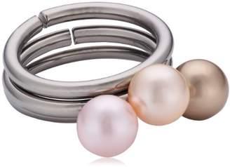 PURE Grey Ring Titanium Swarovski Pearl Ring (3) Made in Germany