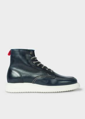 Paul Smith Men's Navy 'Caplan' Leather Boots